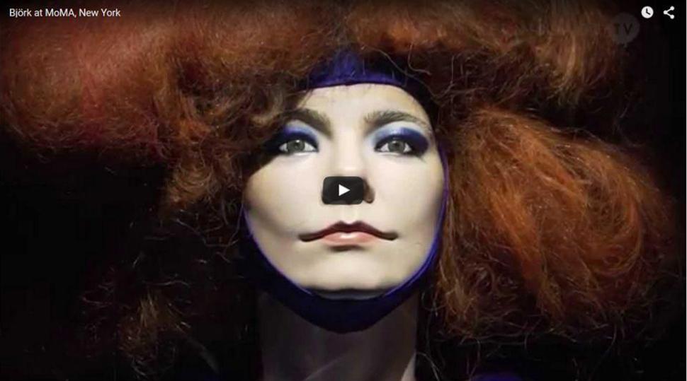 ویدئو Björk. Retrospective at MoMA, New York