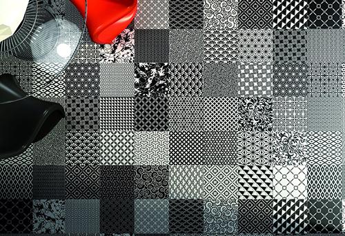 طراحی کفپوش سرامیکی با الگو های هندسی توسط شرکت Aparici