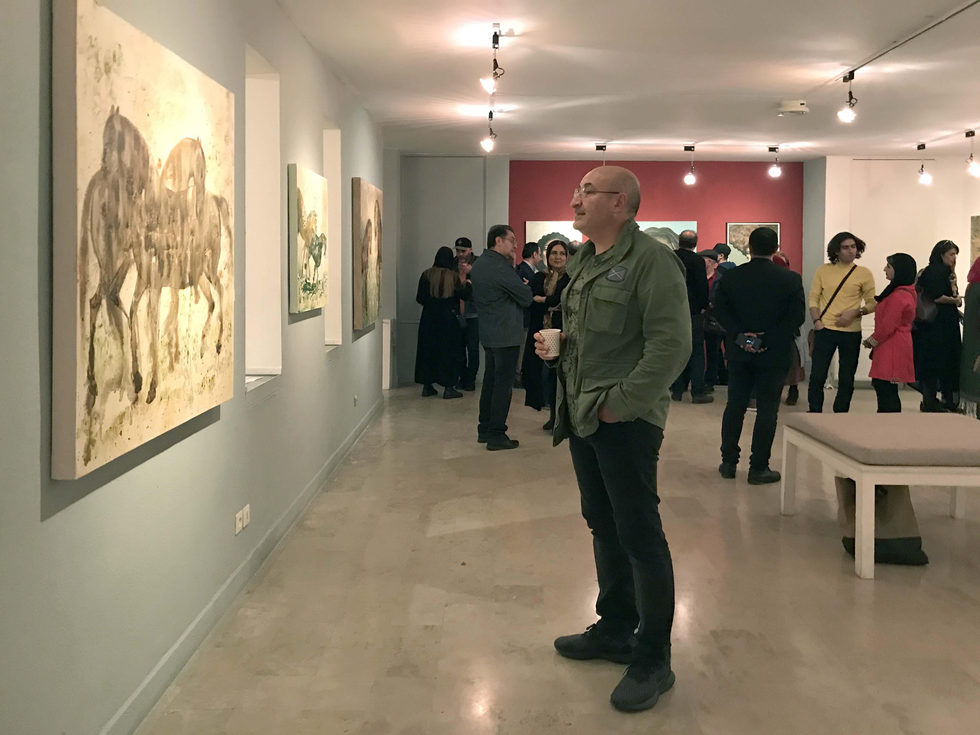 """گزارش تصویری نمایشگاه """"لایه های خیال"""" در گالری لاله"""
