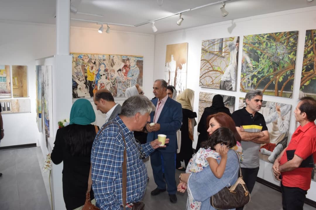 گزارش تصویری نقاشی های شهرام سیف در گالری پل