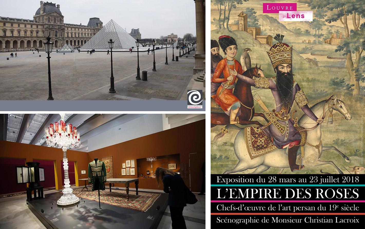 گزارش تصویری نمایشگاه «امپراتوری گلهای سرخ» در موزه لوور (بخش اول)