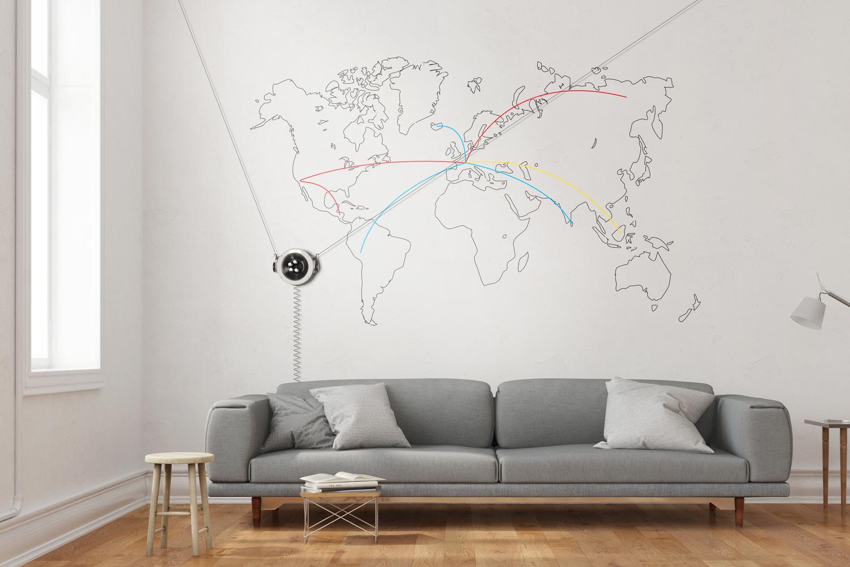 رباتی با قابلیت انجام نقاشی دیواری متغییر