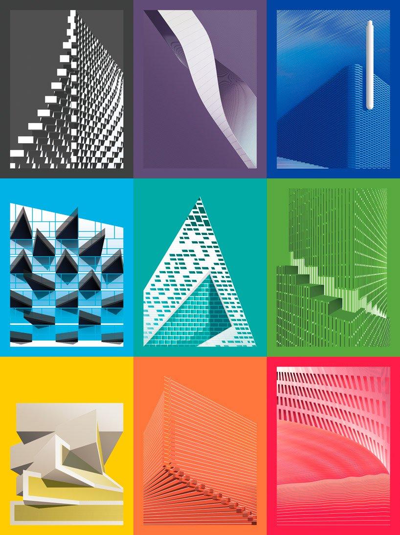 طراحی 9 پوستر در توصیف پروژه های بزرگ معماری