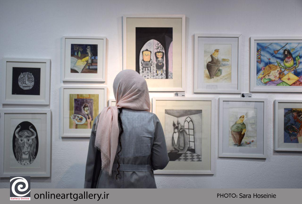 """گزارش تصویری نمایشگاه """"دوست خیالی من۲"""" در گالری فردا"""