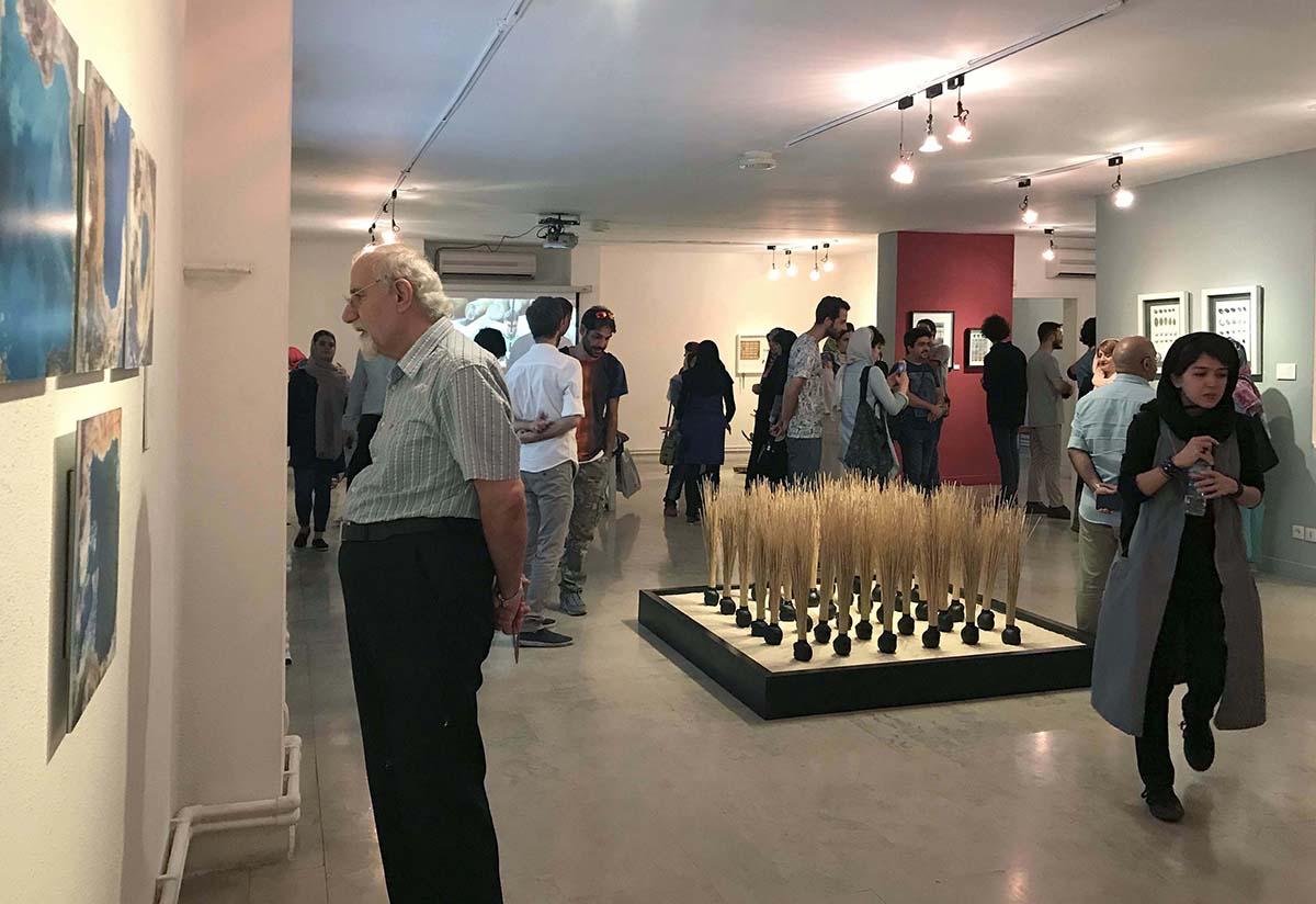 """گزارش تصویری نمایشگاه گروهی """"آب"""" در گالری لاله"""