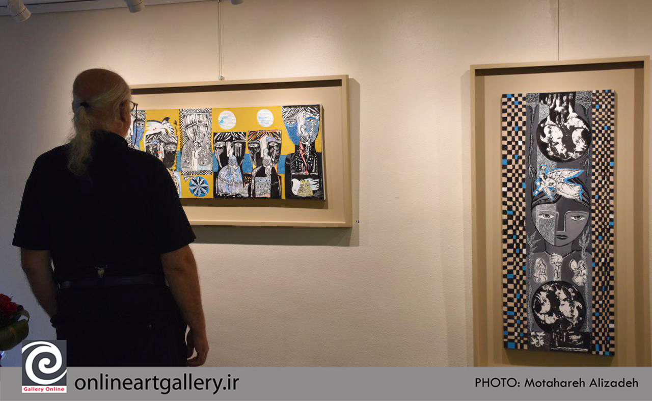 گزارش تصویری نمایشگاه نقاشی های سارا جعفری (بخش اول)