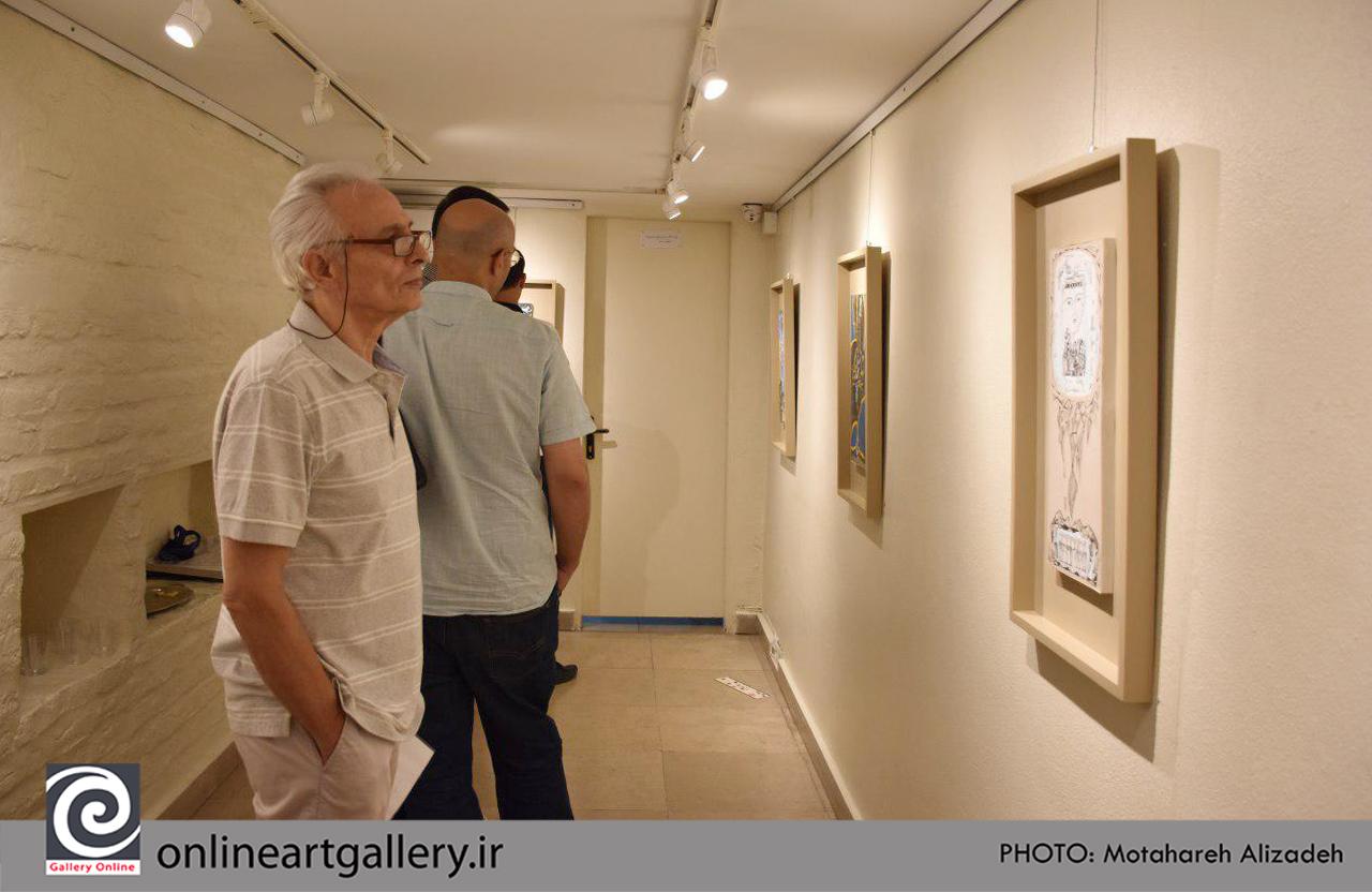 گزارش تصویری نمایشگاه نقاشی های سارا جعفری (بخش دوم)