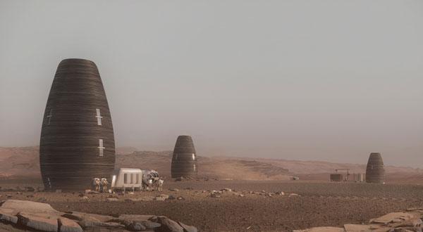 زیستگاهی باقابلیت چاپ سهبعدی در مریخ