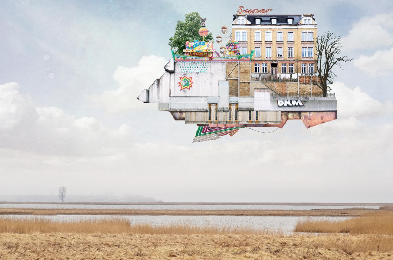 خانه های کلاژیMatthias Jung،تعریفی دوباره از معماری سورئالی