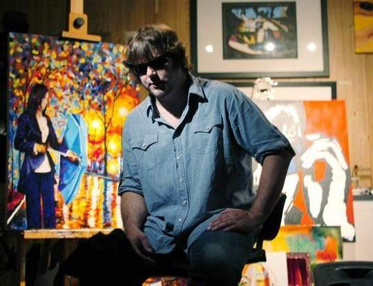 """نگاهی به زندگی و آثار نقاش نابینا """"John Bramblitt"""""""