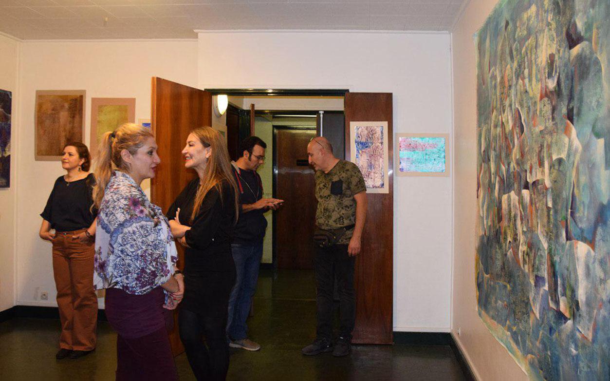 گزارش تصویری نمایشگاه دنیای کهن ف.اخلاقی در پاریس