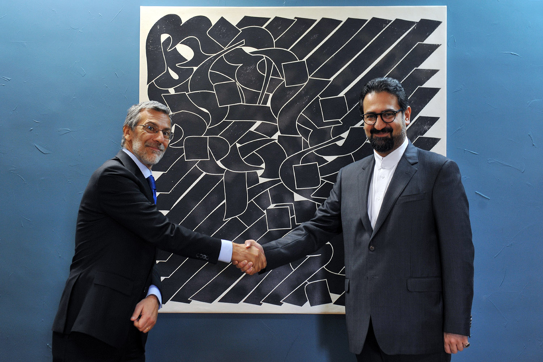 دیدار معاون امور هنری و سفیر ایتالیا در تهران