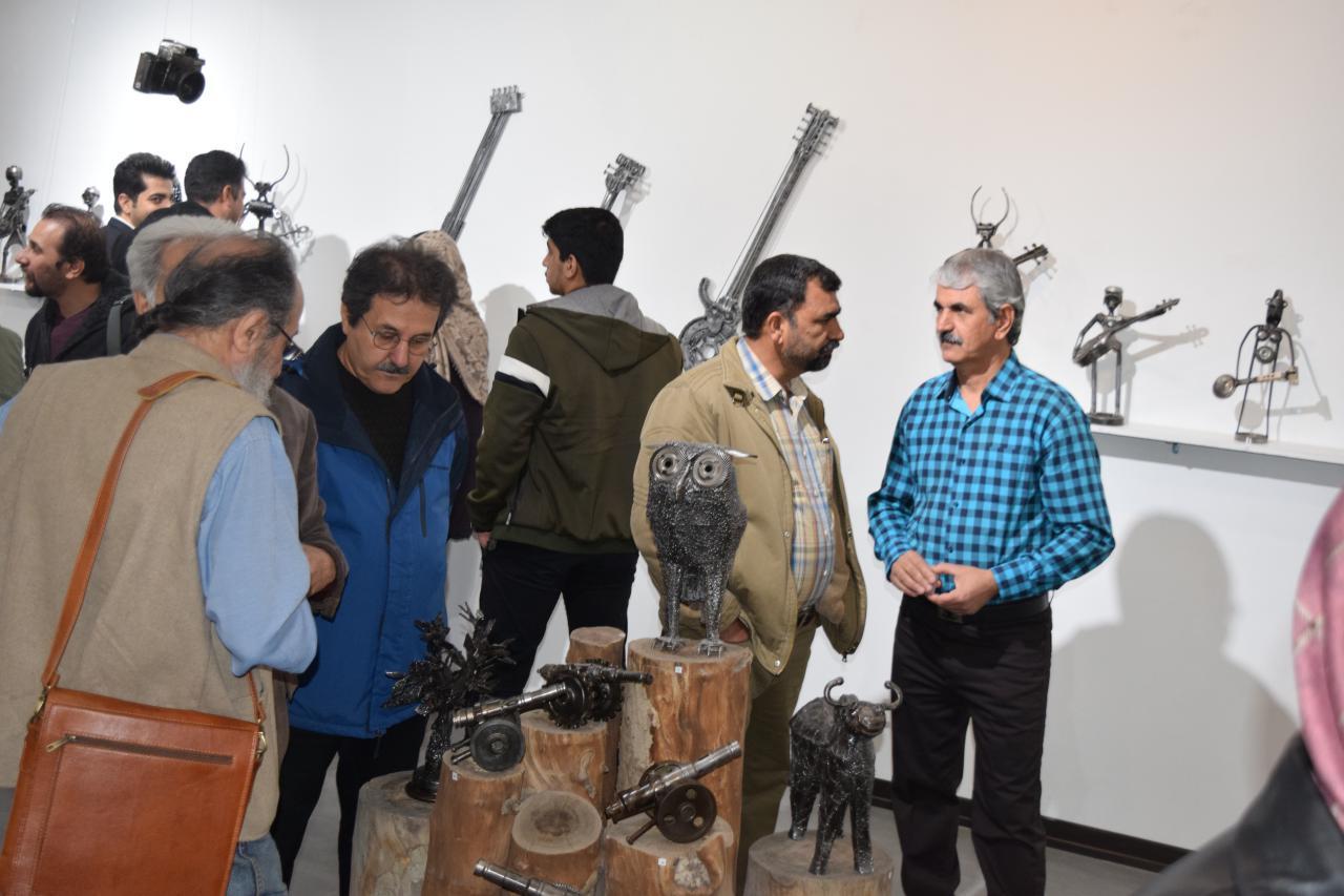 """گزارش تصویری نمایشگاه """"خیال های آهنی"""" در گالری پل"""