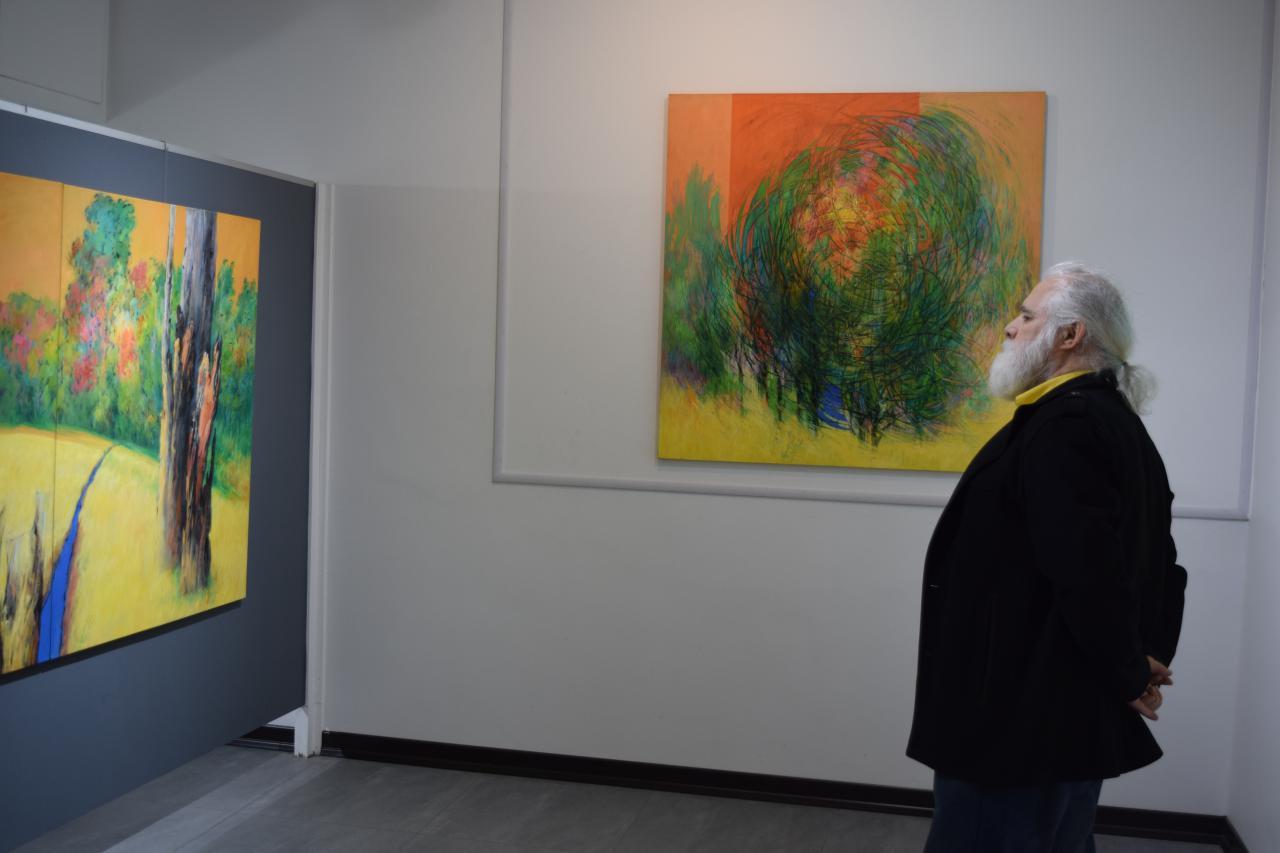 گزارش تصویری نمایشگاه آثار محمدرضا فیروزه ای در گالری پل