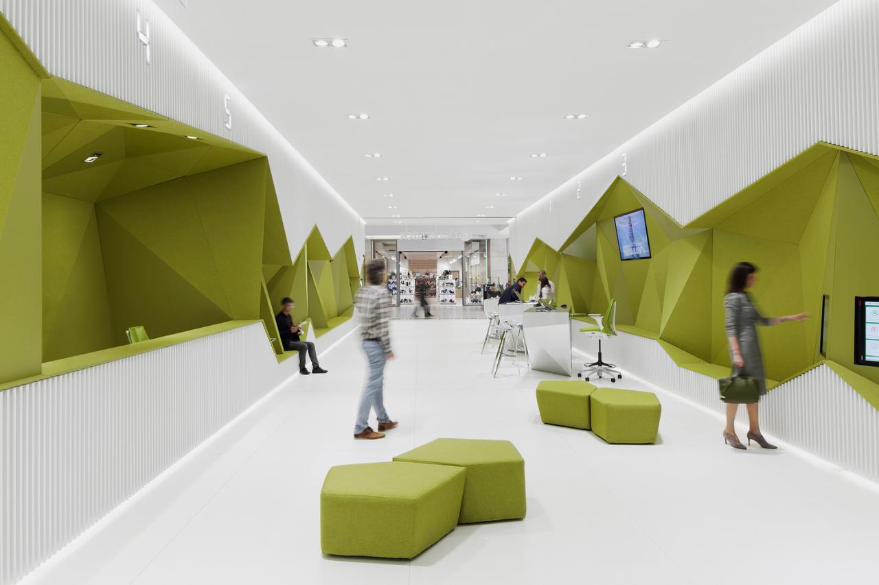 درک متفاوتی از طراحی بانک با طراحی داخلی شعبه جدید بانک پیشرفته DSK