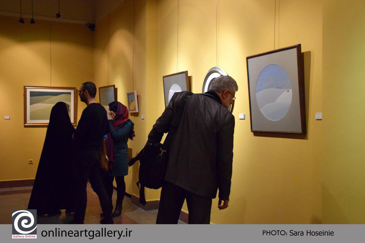گزارش تصویری نمایشگاه مروری بر آثار استاد جلال شباهنگی در در موسسه فرهنگی و هنری صبا
