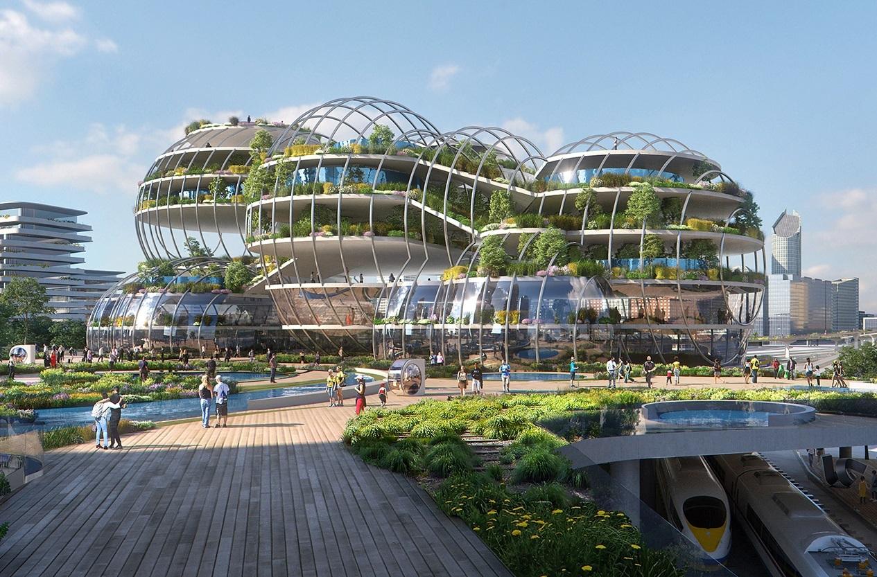 دفتر معماری UNStudio یک شهر آینده برای لاهه طراحی می کند