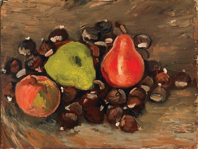 نقاشی «میوه و بلوط» متعلق به ونگوگ