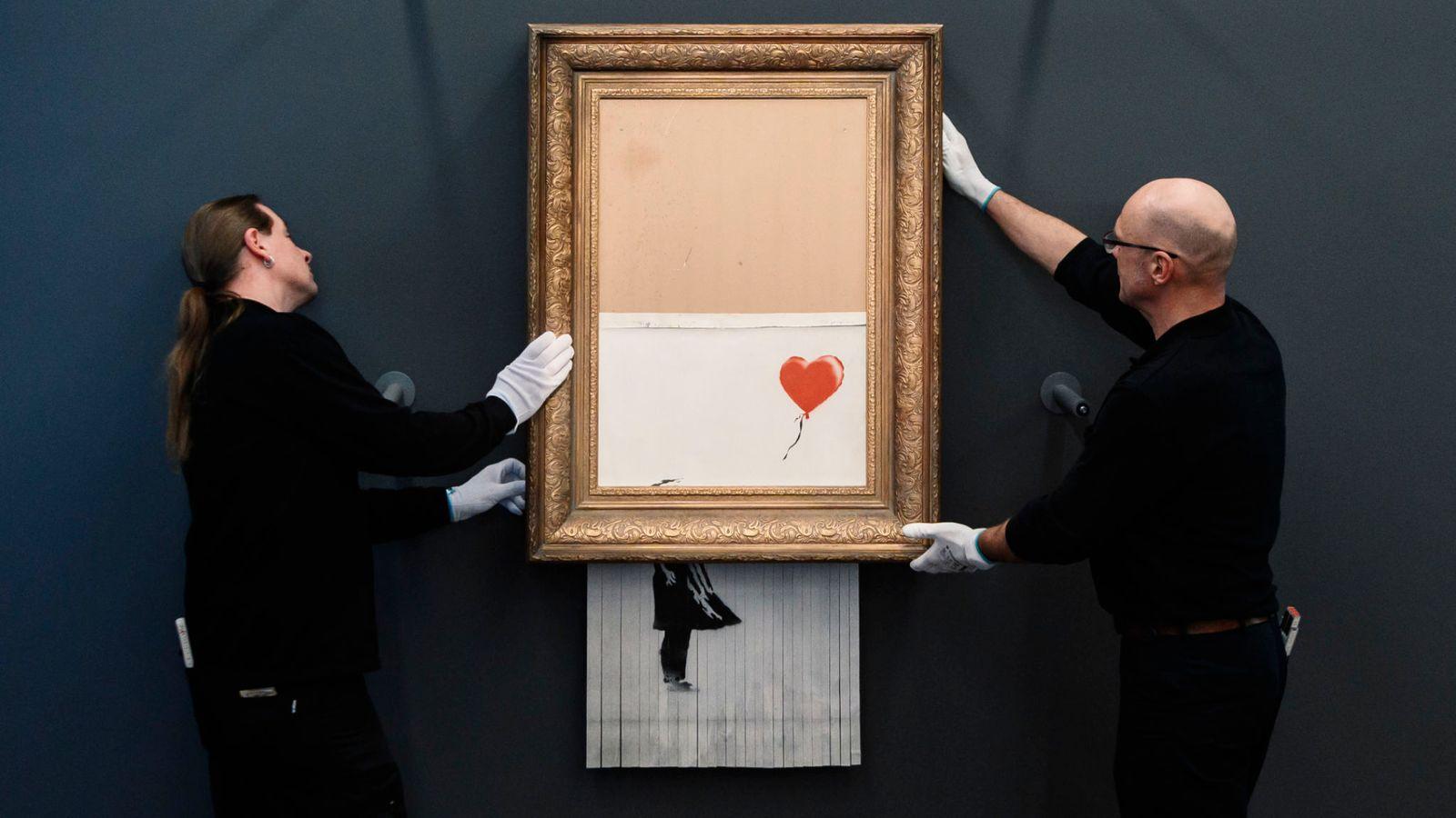 نقاشی «دختری با بادکنک» بنکسی بار دیگر در معرض دید علاقمندان قرار گرفت