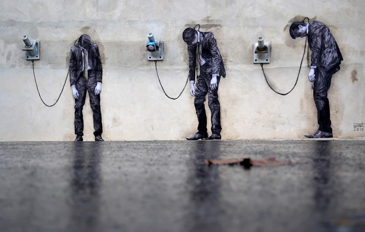 بازی با عناصر شهری توسط هنرمند فرانسوی