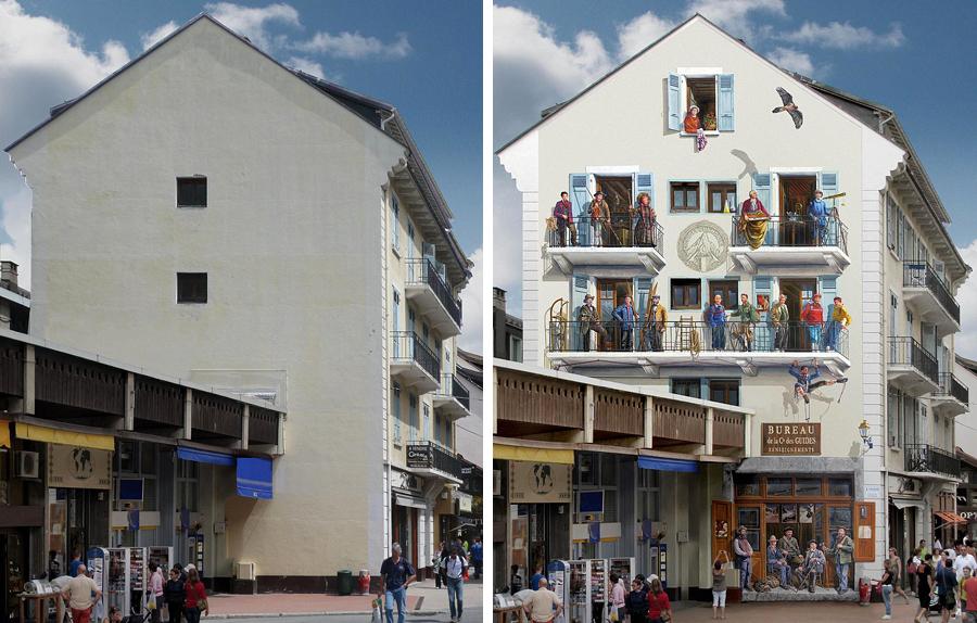 خلق صحنه های حیرت انگیز بر دیوار های خسته کننده شهر