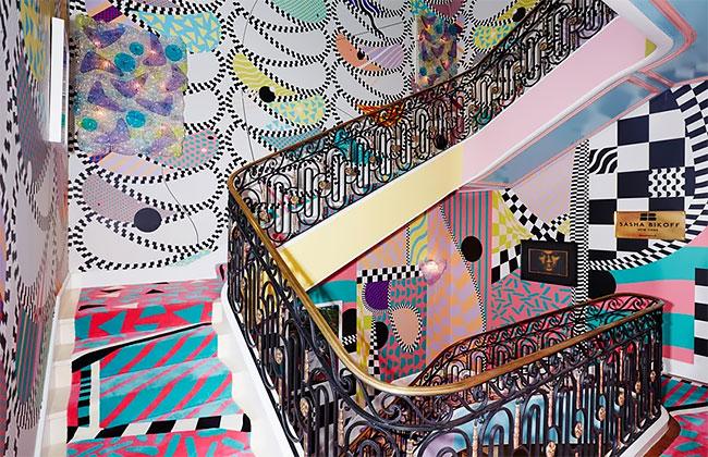 گزارش تصویری نقاشی راه پله های ساختمان در منهتن