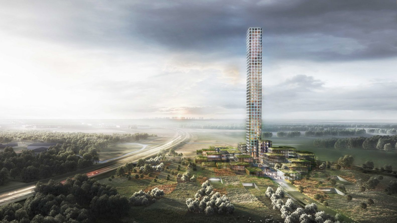 بلندترین برج غرب اروپا در یک روستا ساخته می شود