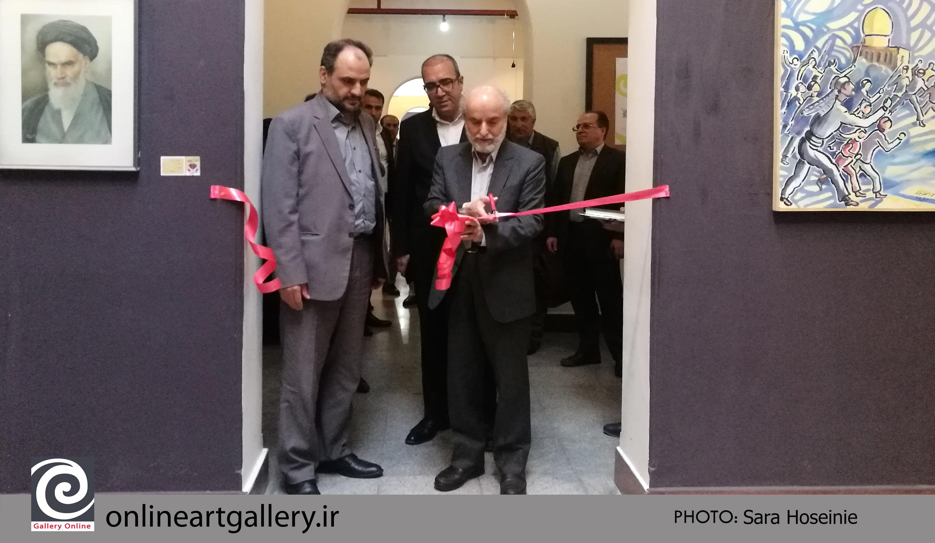 """نمایشگاه نقاشی """"انقلاب هنر"""" در موسسه صبا برپا شد"""