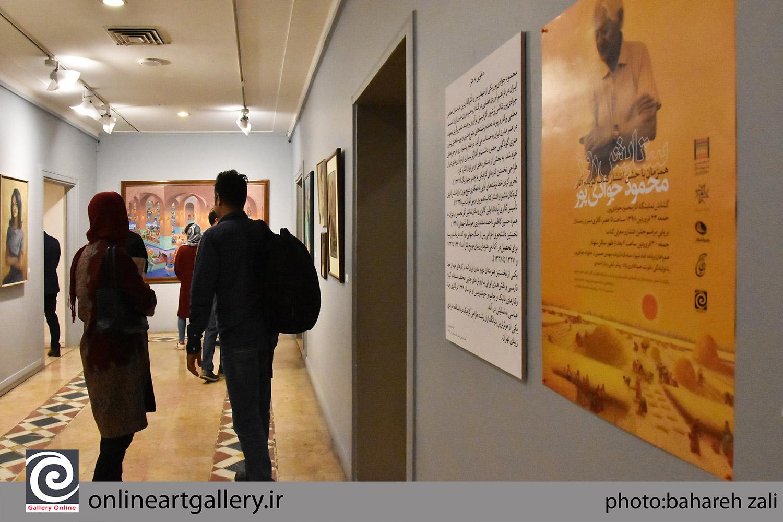 گزارش تصویری از مراسم افتتاحیه نمایشگاه مروری بر آثار استاد محمود جوادیپور