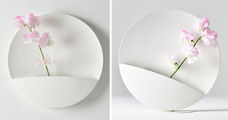 نگاهی به طراحی خلاقانه گلدان مینی مالیستی آهنربایی