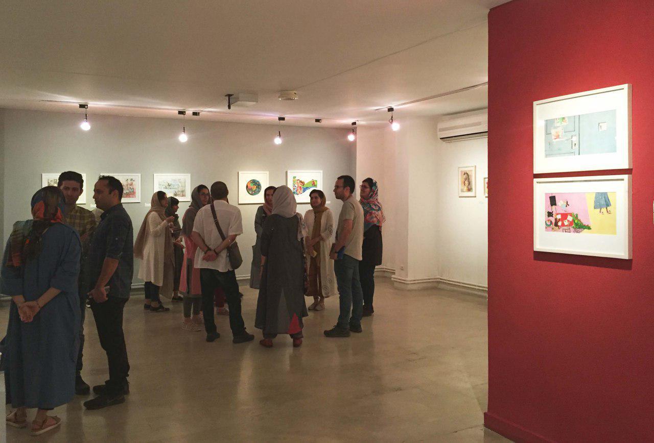 گزارش تصویری نمایشگاه گروهی تصویرسازی در نگارخانه لاله