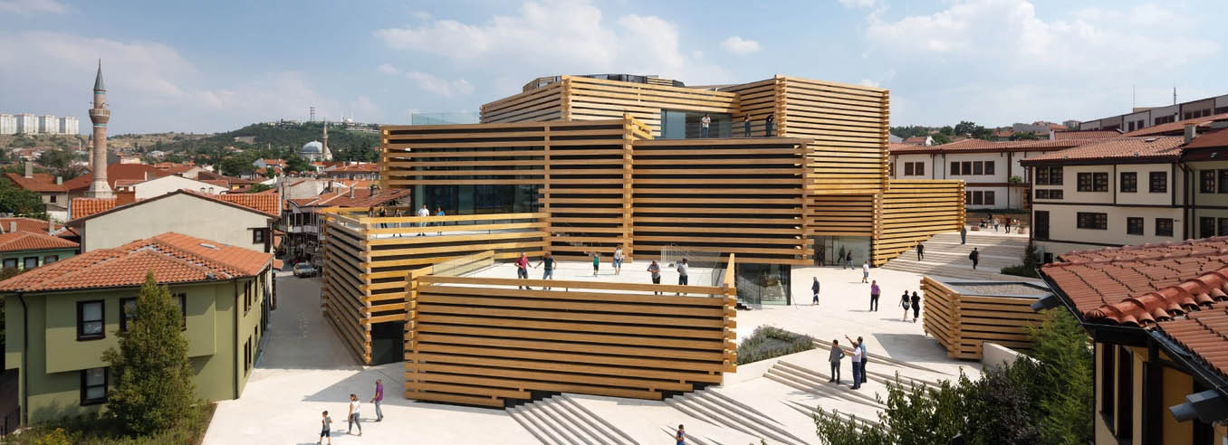 موزه مدرن odunpazari توسط کنگو کوما و همکاران در ترکیه افتتاح می شود