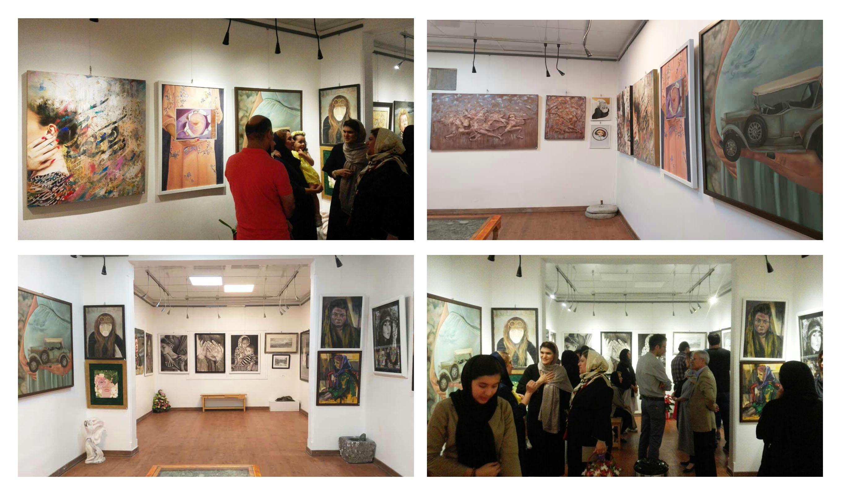 گزارش تصویری نمایشگاه سلف پرتره در گالری شیث