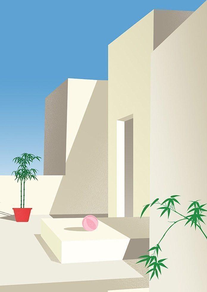نظم هندسی رنگ و فرم در آثار Craven