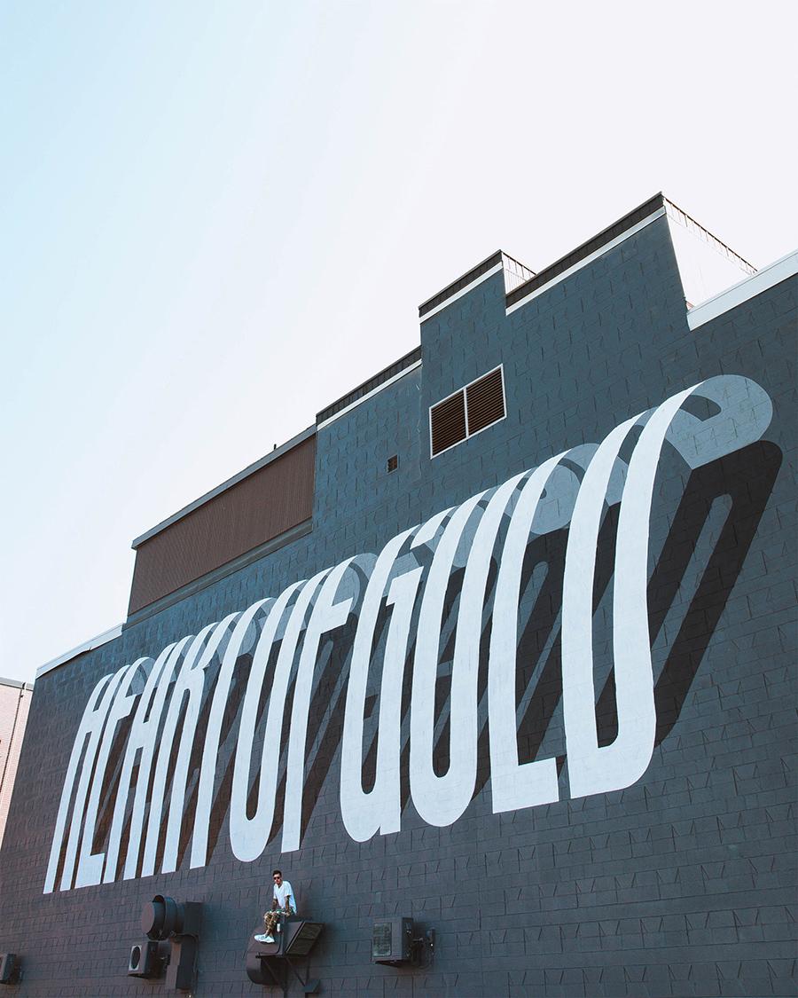 تایپوگرافی در هنر خیابانی سه بعدی