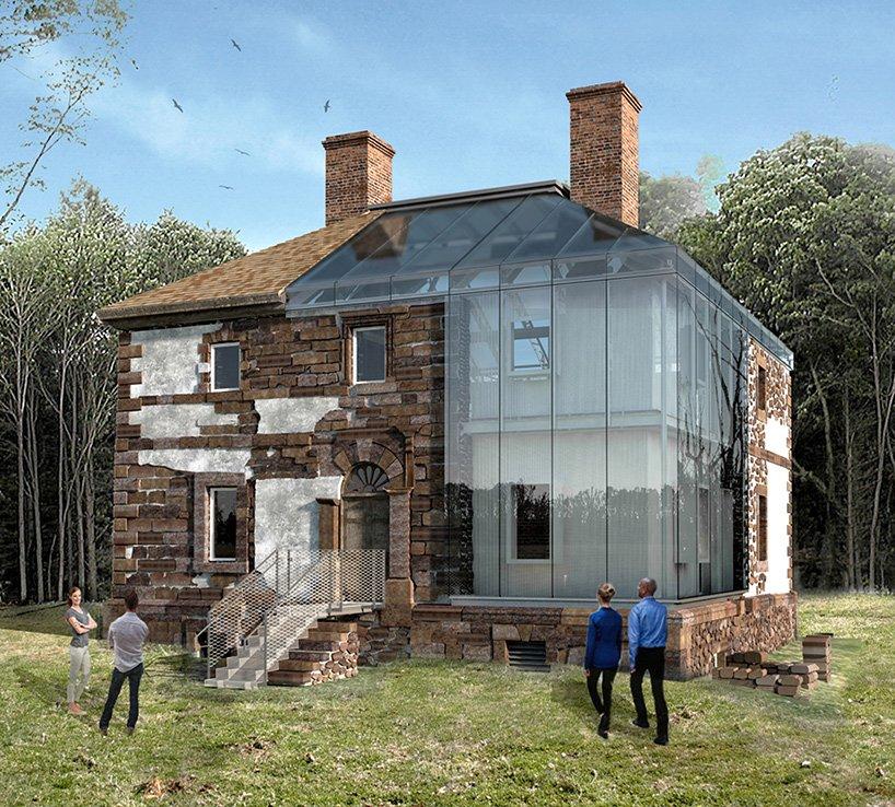 پروژه خانه شیشه ای menokin در ویرجینیا