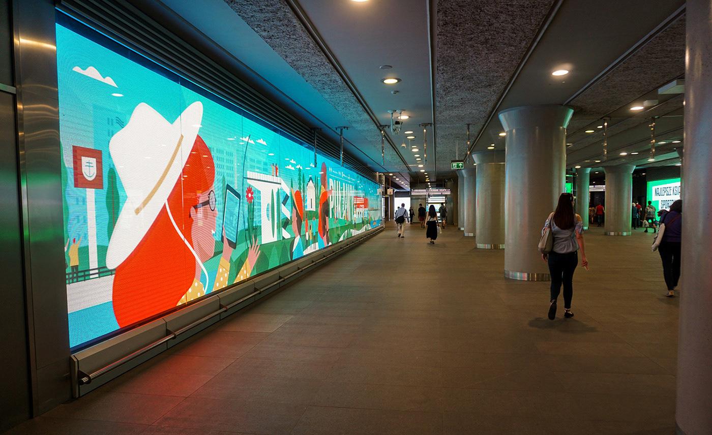 تصویرسازی های دیجیتال Dawid Ryski بر دیوارها سطح شهر
