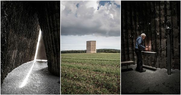 نمازخانه سکوت زیبا از پیتر زومتور؛ ترکیب منحصر با چشم انداز طبیعی
