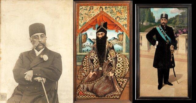 حراج نقاشی و عکسهای شاهان قاجاری در لندن