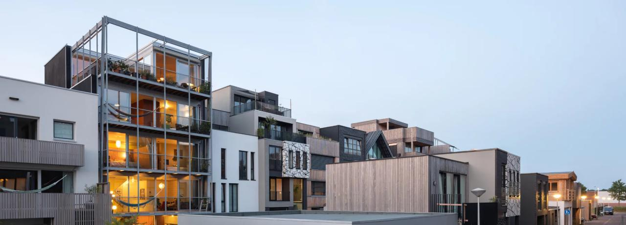 خانه ای برای 3 نسل در آمستردام با نمای بیرونی باز