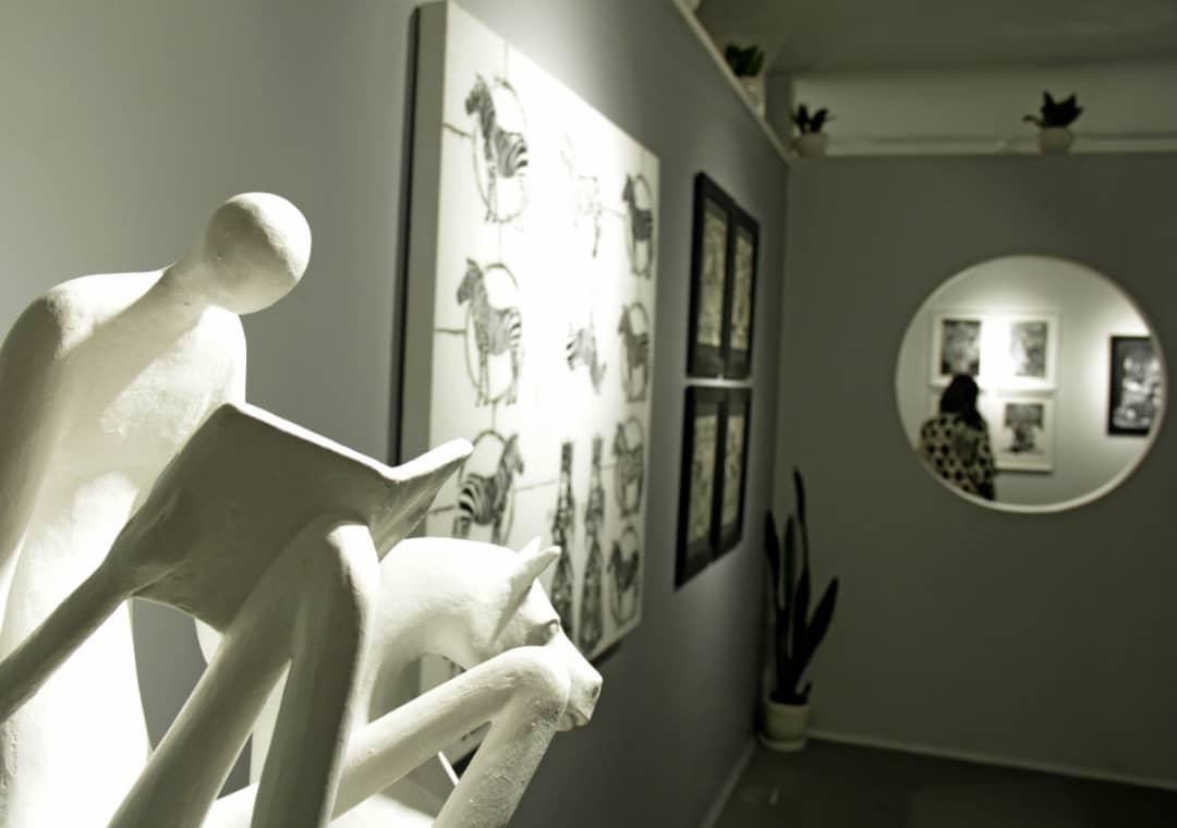 """گزارش تصویری نمایشگاه """"سیاه و سفید"""" در گالری گویا"""