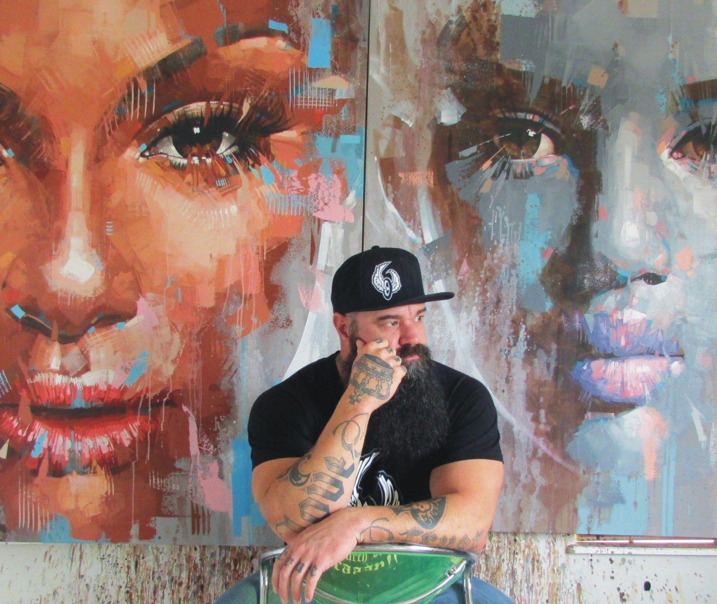 نگاهی به آثار jimmy law، نقاش پرتره های پر جنب و جوش