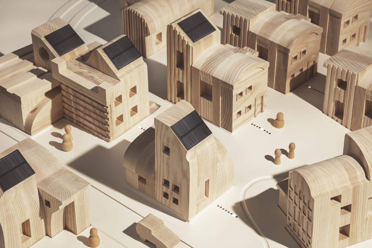 آزمایشگاه تحقیقاتی IKEA SPACE10 یک روستای خورشیدی را با انرژی تجدید طراحی میکند