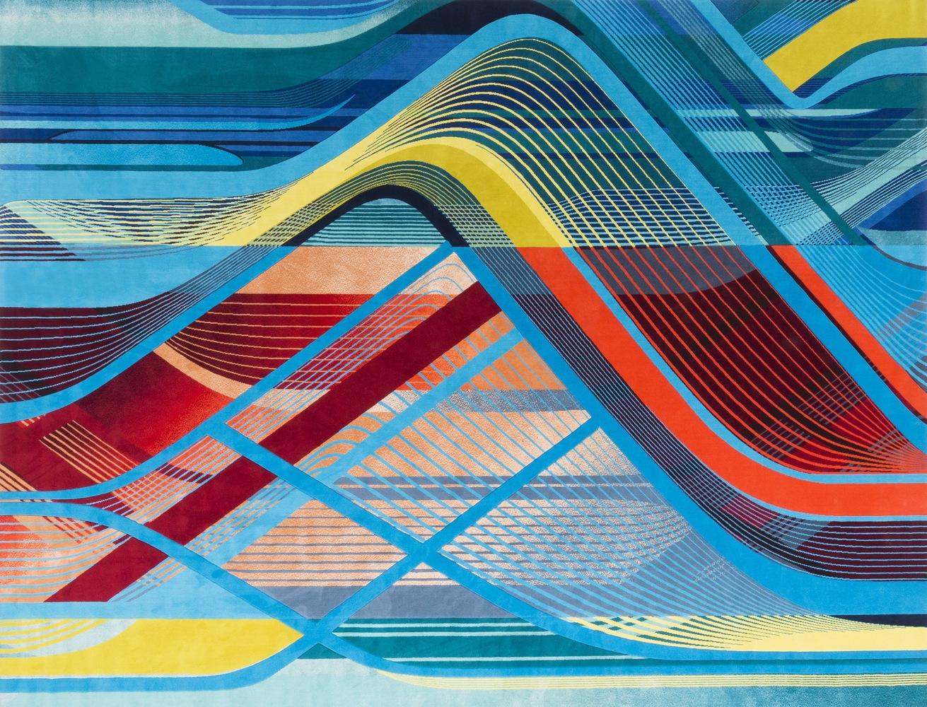 طراحی فرش توسط معماران زاها حدید در جشنواره طراحی لندن 2018