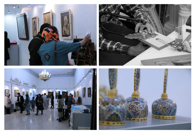 """گزارش تصویری چهارمین نمایشگاه صنایع دستی """"گروه هنری آوای نقش در فرهنگسرای ملل"""