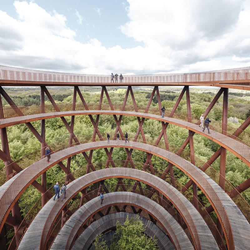 نگاهی به طراحی برج استوانهای و مارپیچ کپنهاگ دانمارک