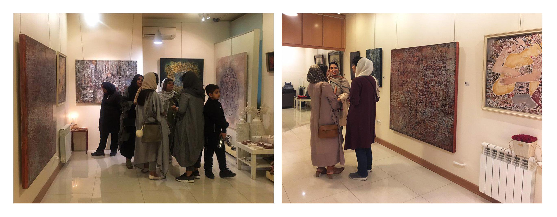 """گزارش تصویری نمایشگاه هنرهای تجسمی """"وارونا"""" در گالری احسان"""