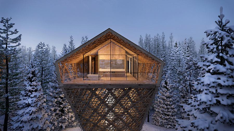 سوئیت های لوکس چوبی در اتریش توسط Peter Pichler