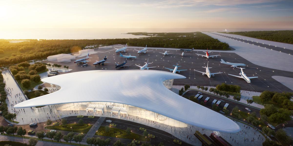 طرح Fuksas منتخب ساخت فرودگاه Gelendzhik روسیه