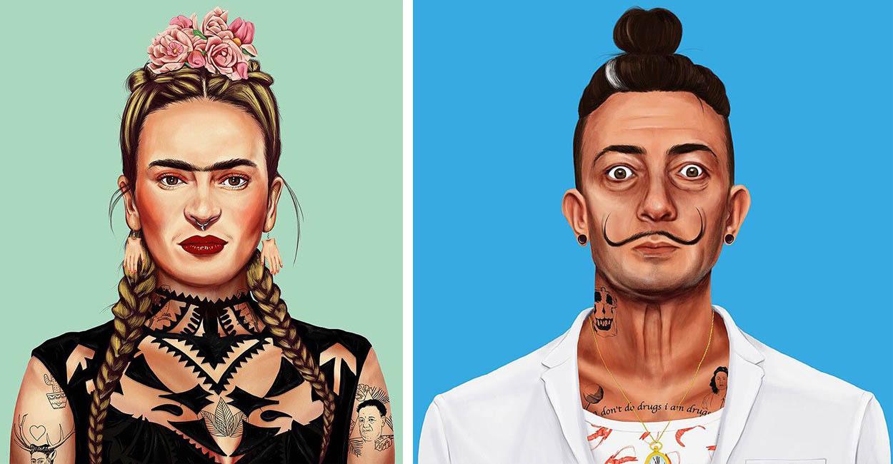 معروفترین هنرمندان دوران گذشته در قالب هیپسترهای امروزی